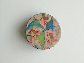 漆ブローチ「circle」の画像