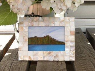 ステンドグラスパネル  ダイアモンドヘッド(ハワイ)の画像
