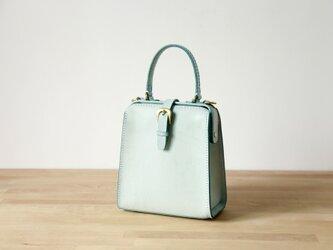 【切線派】たるマチ2WAY 鞄 がま口 本革手作りショルダーバッグ 総手縫い 手持ち 肩掛けの画像