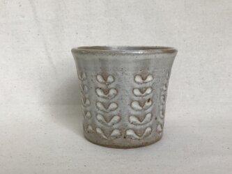 粉ひきのフリーカップ(しのぎリーフ柄)の画像