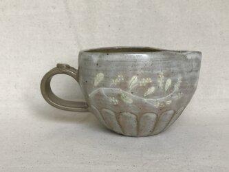 粉ひきの納豆鉢(ミモザ柄)の画像