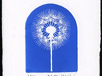 たんぽぽ・2021(青色)/ 銅版画 (作品のみ)の画像