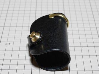 ルガトショルダーのキーケース スマートキー対応 真鍮金具 ブラックの画像