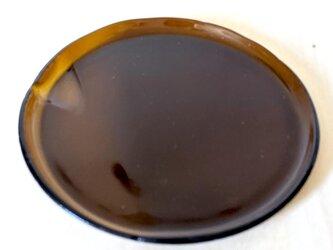 【usuislabo】平小皿ー茶色(瓶ガラスより)大の画像