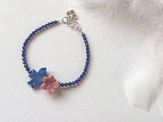 *ラピスの幸運の青い鳥とお花のブレスの画像