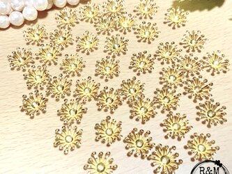 【046】 花座 ビーズキャップ 花びら フラワーキャップ 40個の画像