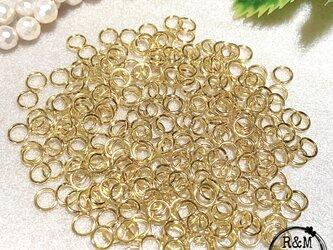 【050】 高品質 マルカン 丸カン 7mm 真鍮 ゴールド 250個の画像