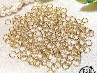 【051】 高品質 マルカン 丸カン 8mm 真鍮 ゴールド 200個の画像