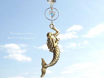 人魚とハート*スワロフスキーが煌めくミニサンキャッチャーの画像