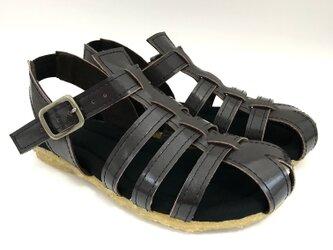 MESH sandals #natural leather #受注製作 #天然素材の画像