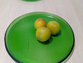 【usuislabo】平小皿ー緑(瓶ガラスより)大の画像