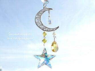 スワロフスキーオーロラ*星と月のミニサンキャッチャーの画像