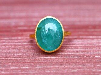 古代スタイル*天然グランディディエライト 指輪*7号 GPの画像