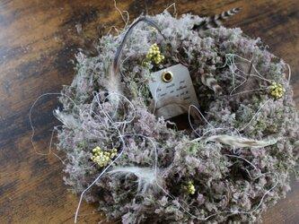 「鳥の巣リース」 スモークツリー のリース   ドライフラワーリース の画像