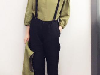 グリンー リネンクルーネックTシャツ*半袖シャツ*リネン100%の画像