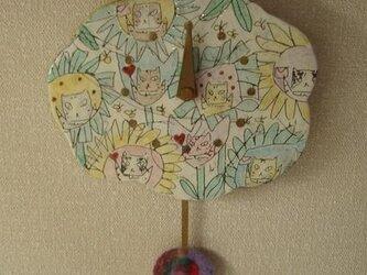 振り子時計 ネコの画像