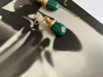 14KGF malachite drop piercedの画像