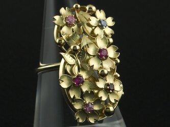 桜に蝶の指輪 94Rの画像