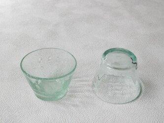 再生ガラスそばちょこ モールー薄青(太田潤)の画像