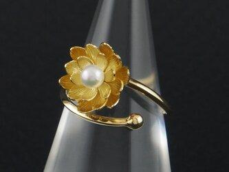 蓮の花と粒の指輪 169Rの画像