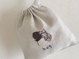 おさんぽ巾着ミニ hugの画像
