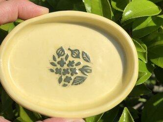 kakiotoshi black 豆皿 - 小さな花の画像