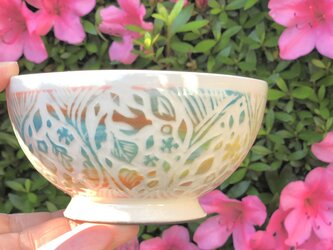 Kakiotoshi mini bowl - 子供茶碗 アラベスクの画像