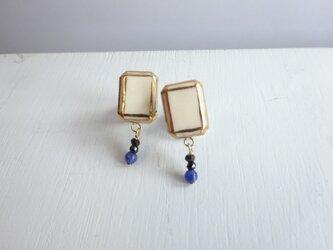 jewel cut+ソーダライトのpierce/earring(スクエア)の画像