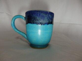 フリーカップ ブルー地にルリー色①の画像