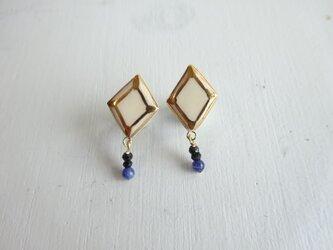 jewel cut+ソーダライトのpierce/earring(ヒシガタ)の画像
