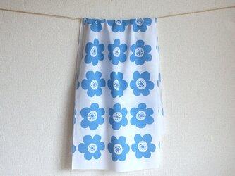 anemone てぬぐい(blue)の画像