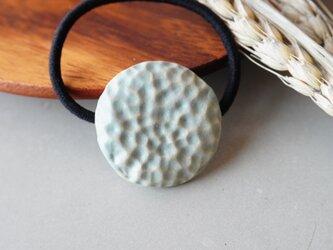 サークル凹凸ヘアゴム 青銅【陶器】の画像