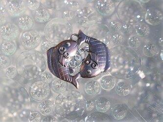 双魚の根付の画像