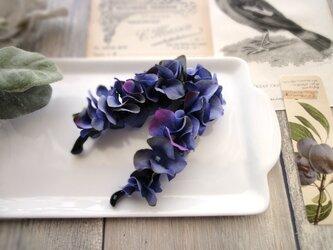 ミニ紫陽花のバナナクリップ ■ Chuchu シリーズ ■No.5 ブルーの画像
