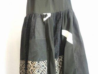 着物リメイクスカート  1387の画像