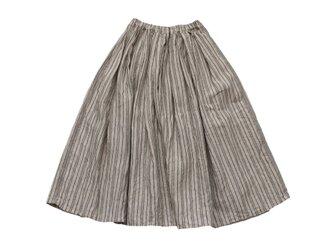 リネンストライプスカートの画像
