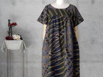 着物リメイク 浴衣のワンピース /M〜Lの画像