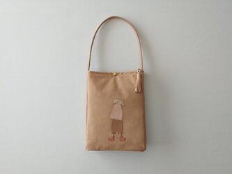 annco leather shoulder bag [sand beige]の画像