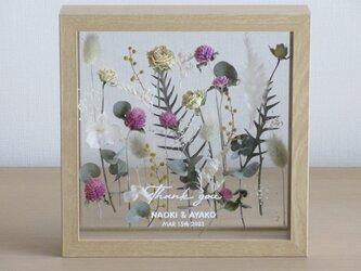 framed flower garden*2個セットメッセージ入り*受注制作の画像
