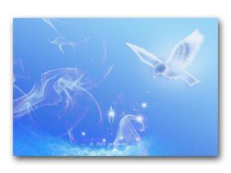 「泪のこころ入れる袋、ください」 鳥 星 ほっこり癒しのイラストポストカード2枚組No.1374の画像