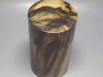 黒柿 茶筒 ガラスコート仕上げの画像