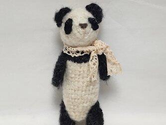 編みぐるみパンダの画像