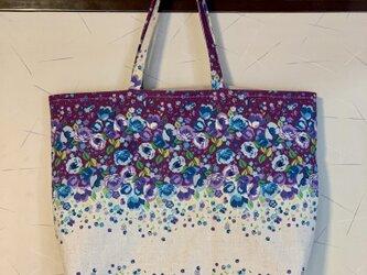 紫陽花カラーのトートバッグの画像