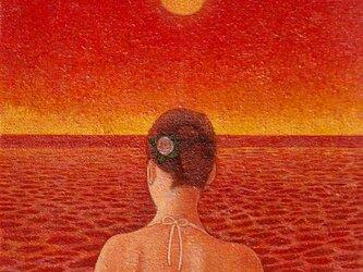 砂浜にての画像