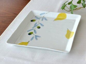 オリーブ 角大皿【ラストワン商品】の画像