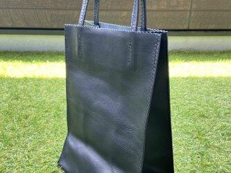 紙袋風レザーバッグ B5サイズの画像