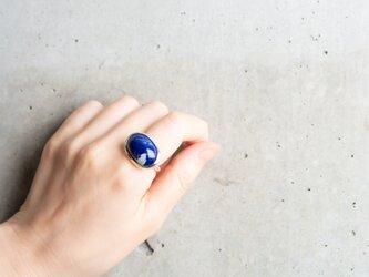 KISSHO 「市松」深い濃紺のラピスラズリ シルバーリングの画像
