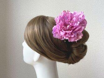 フラメンコ 社交ダンスの髪飾りに♡ピンクのピオニーのヘッドドレスの画像