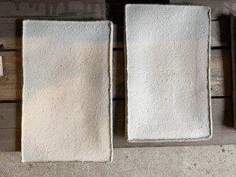 淡雪粉引き 角皿 25cmの画像