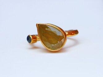 古代スタイル*天然スフェーン 指輪*8号 GPの画像
